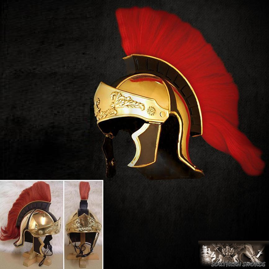 Greco Roman Red Crested Helmet