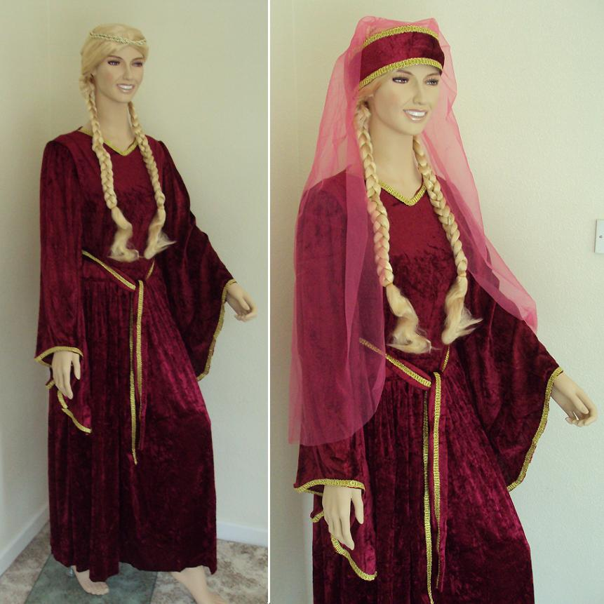 Rosalie's Medieval Woman - Veils and Wimples