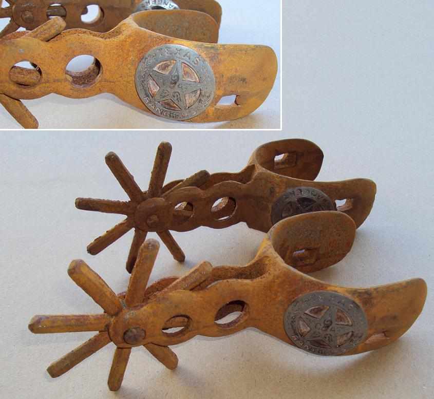 texas ranger old west reproduction spurs