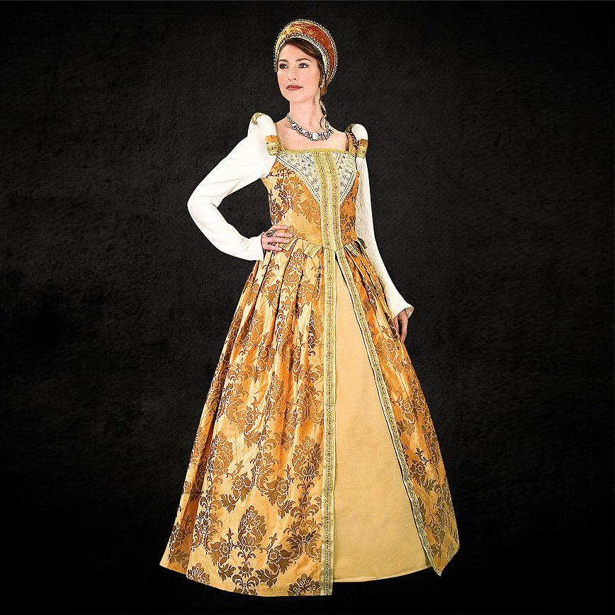 Elizabethan Royal Amber Dress