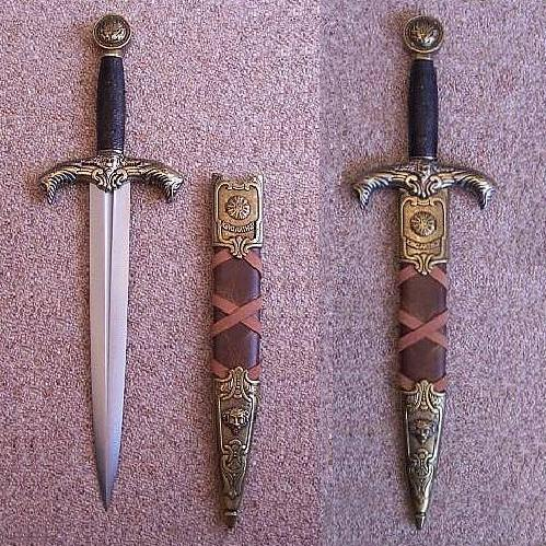 Excalibur Dagger Of King Arthur - Brass Finish