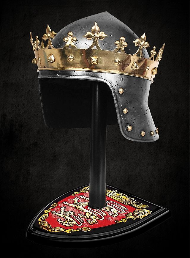 King Richard The Lionheart Helmet And Stand Officially