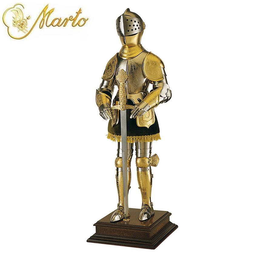 Marto 16th Century Spanish Miniature Royal Knight In Gold