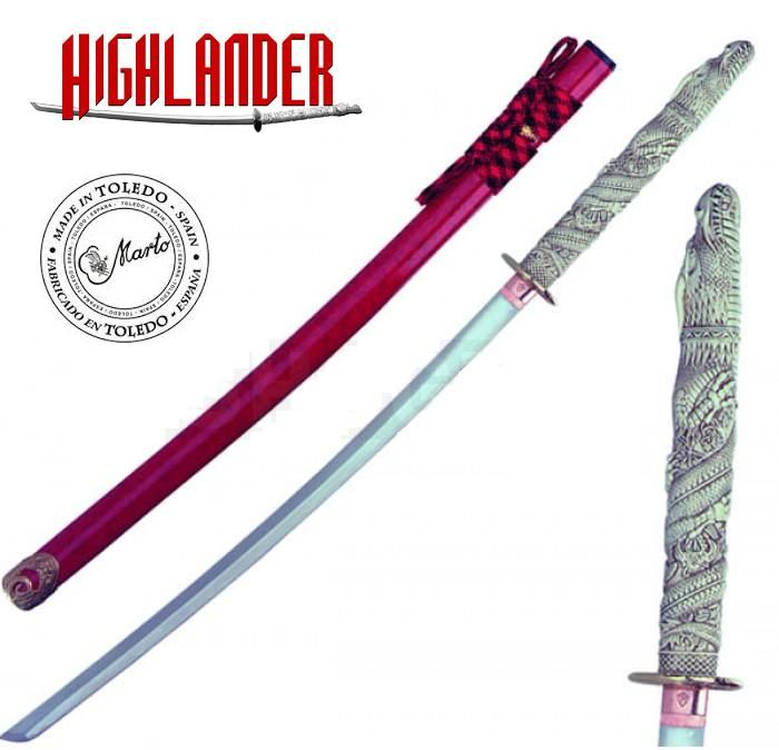 Officially Licenced Marto Highlander Dragon Katana Of